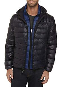 Hooded Packable Jacket