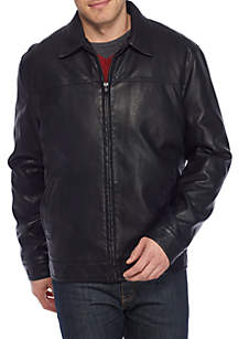 Big & Tall Faux Leather Jacket