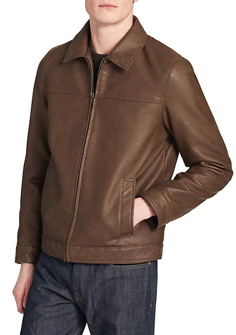 Collar Faux Leather Jacket