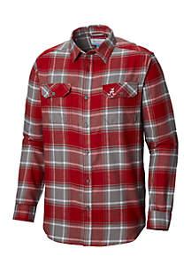 Long Sleeve Collegiate Flannel Shirt