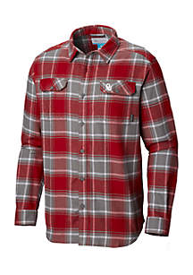Long Sleeve Collegiate Flannel Shirt