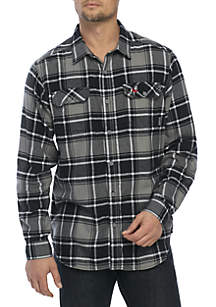 Columbia Long Sleeve Collegiate Flannel Shirt