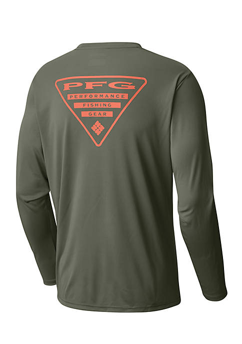 Mens PFG Terminal Tackle Triangle Long Sleeve Graphic Tee