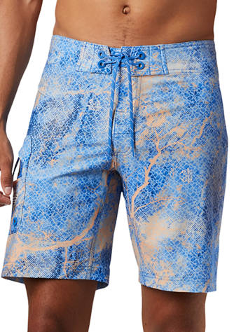 Womens Abstract Nature Elements Quick Dry Fashion Casual Beach Boardshort Swim Shorts