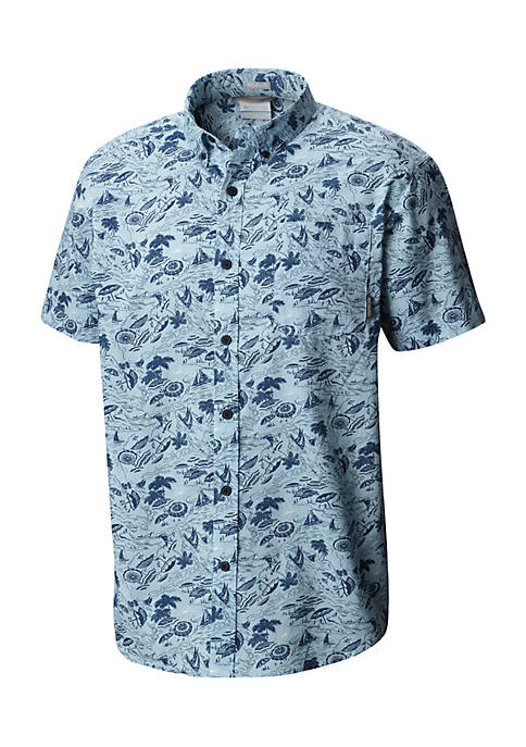 Columbia Printed Rapid River Short Sleeve Shirt