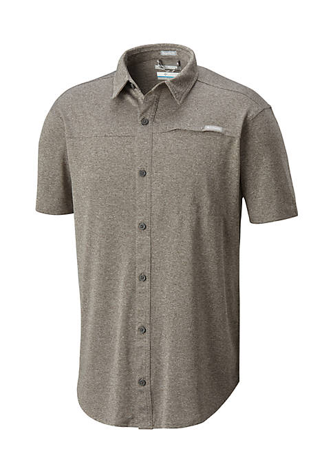 Columbia Short Sleeve Battleridge Button Up Knit