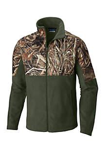 Fleece Overlay Camo Jacket