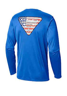 2f5b0430 ... Columbia Big & Tall Terminal Tackle PFG Triangle Flag™ Long Sleeve Shirt