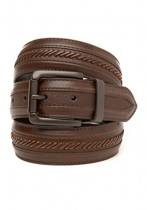 Columbia Reversible Leather Belt with Enhanced Brown Side