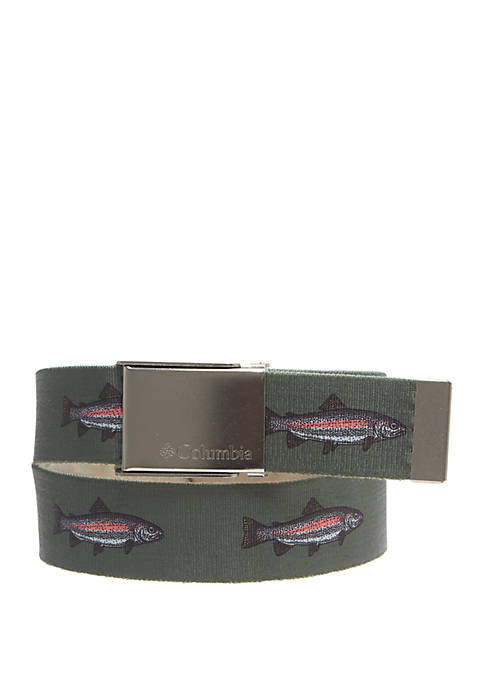 Columbia PFG Reversible Stretch Casual Belt
