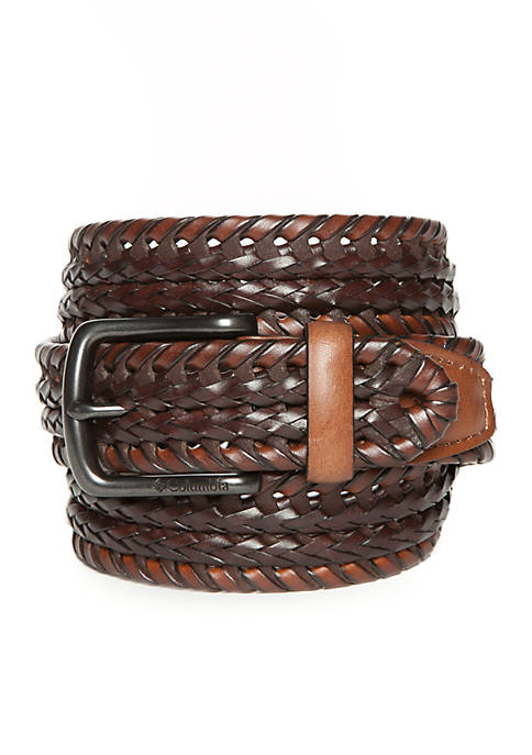 Braided Two-Tone Leather Belt