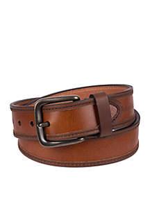 Elevated Tan Edge Stitching Belt
