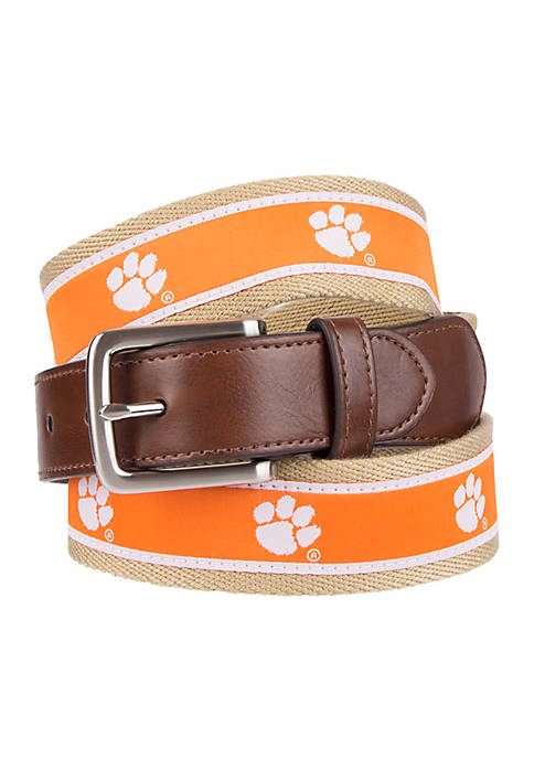 Collegiate Collection Clemson Tigers Ribbon Casual Belt