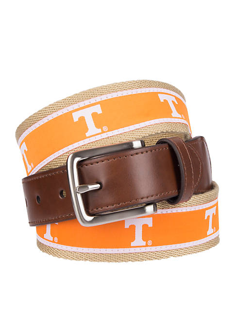 Collegiate Collection Tennessee Ribbon Brown Belt