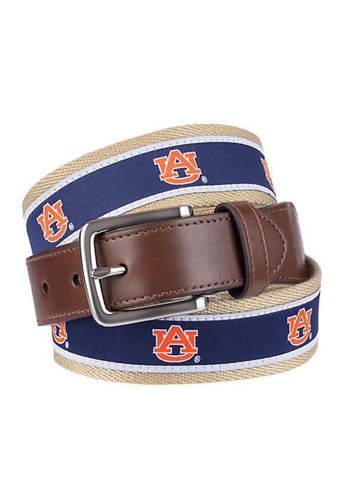 Collegiate Collection Auburn Mens Fabric Casual Belt