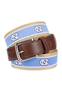 North Carolina Tar Heels Ribbon And Leather Casual Belt
