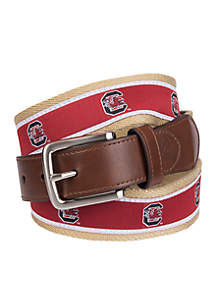 Collegiate Collection South Carolina Gamecocks Ribbon Brown Belt