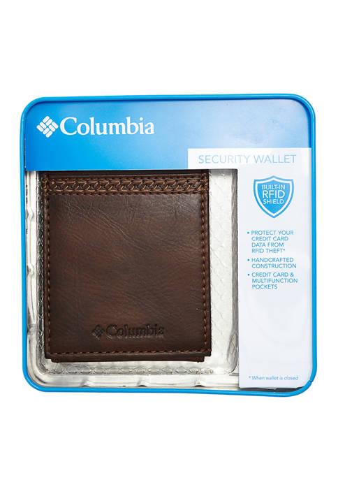 Columbia RFID-Blocking Wide Magnetic Bi Fold Wallet