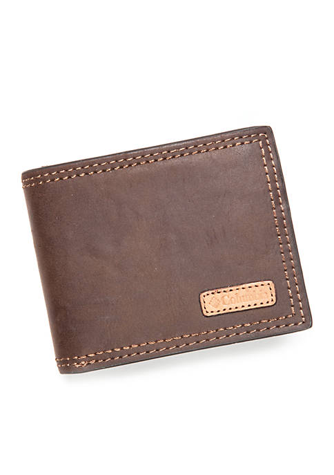 Columbia RFID Passcase with Vachetta Patch Wallet