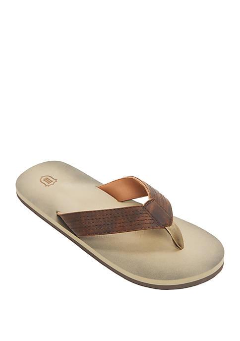 Multi Row Stitch Thong Sandal
