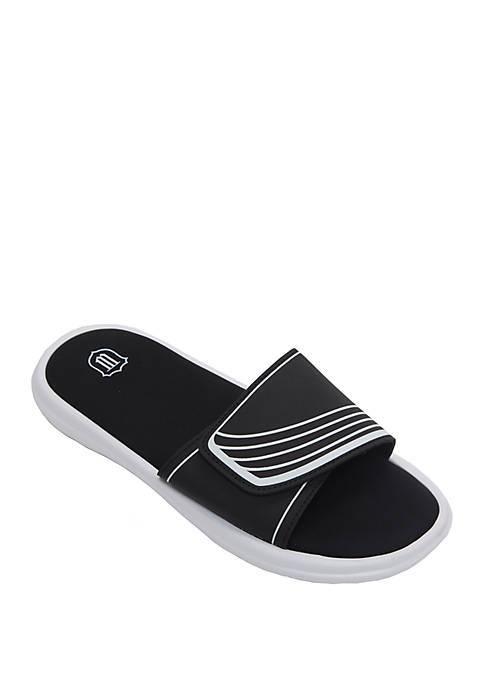 Stripe Velcro Slide Sandal