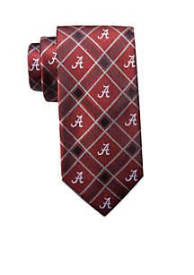 Alabama Logo Plaid Tie