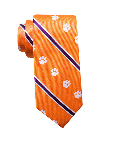 Collegiate Collection Clemson Paw Stripe Tie