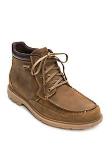 Pattern Moc Toe Waterproof Boot