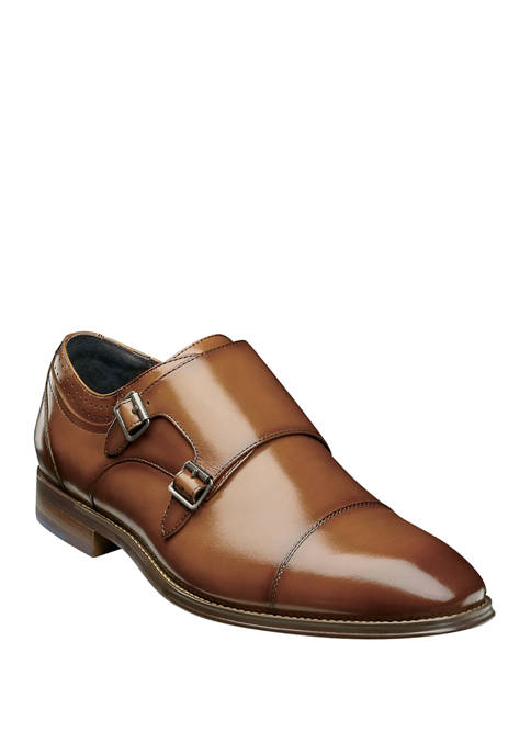 Stacy Adams Bayne Cap Toe Double Monk Strap