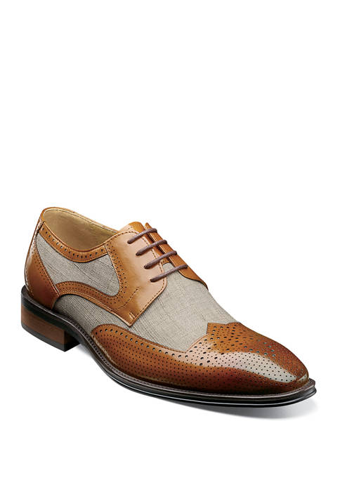 Harrison Modified Wingtip Oxford Shoes