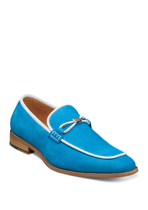 Colbin Moc Toe Ornament Strap Loafers