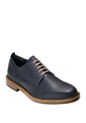Cole Haan Tyler Grand Men's Plain-Toe Derby (Marine Blue)