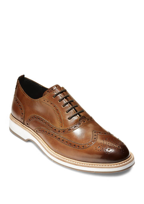 Cole Haan Morris Wing Oxford Burnished Round Toe