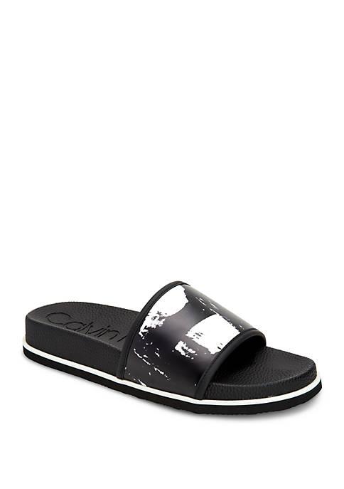 Calvin Klein Mackee Slip On Sandals