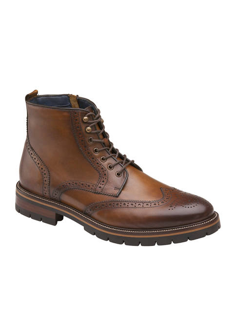 Johnston & Murphy Cody Wing Tip Boots