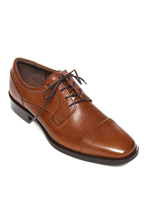 Johnston & Murphy Lancaster Cap Tan Dress Shoe