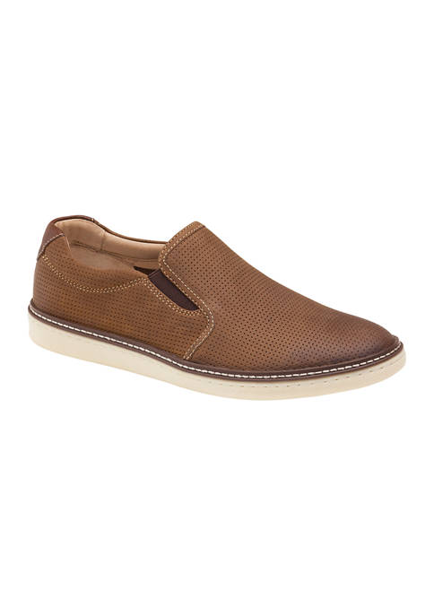 Johnston & Murphy McGuffey Perforated Slip On Sneakers