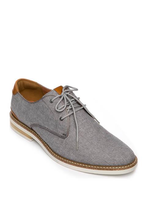 Highland Canvas Plain Toe Oxford Shoes