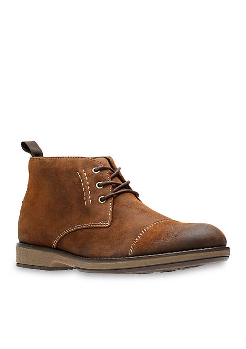 Clarks Hinman Mid Dark and Tan Shoes