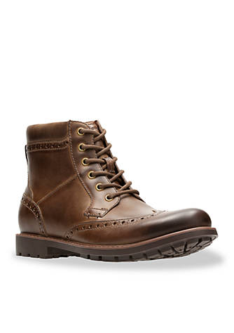 Clarks Currington Rise Brown Boots