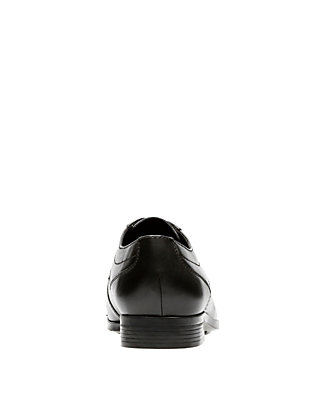 Men/'s Clarks Collection Conwell Cap Lace Up Shoes Black Leather 26131573