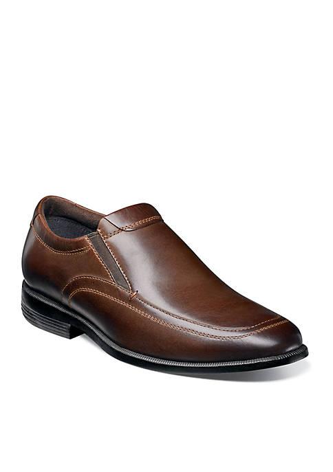 Dylan Plain Toe Double Gore Dress Slip On Shoes