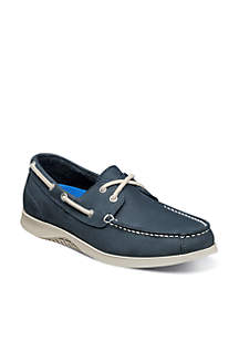 Bayside Lites Moc Toe Two-Eye Casual Boat Shoes