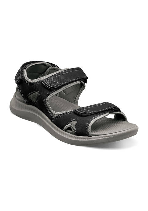 Nunn Bush Mens Rio Vista 3-Strap Casual Sandals