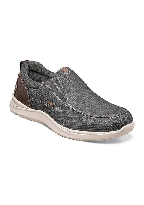 Mens Conway Canvas Moc Toe Casual Slip On Shoes