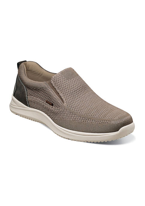 Nunn Bush Conway Knit Moc Toe Slip On