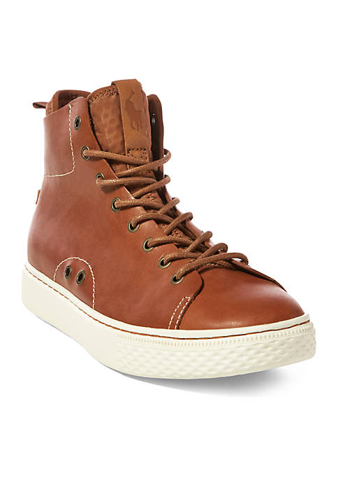 Ralph Lauren Dleaney Leather Sneaker