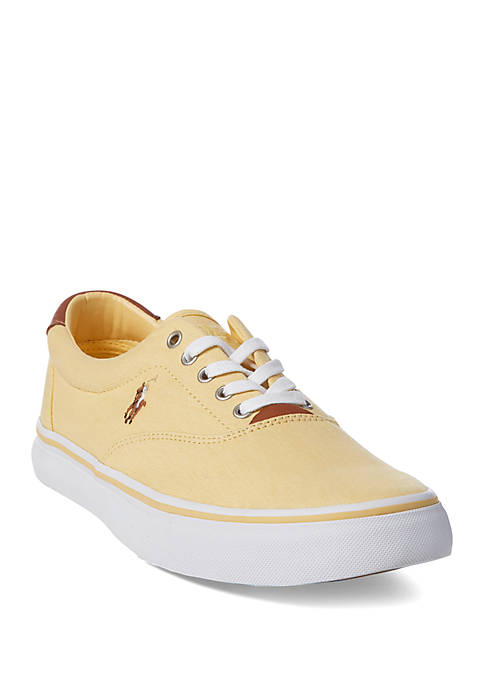 Ralph Lauren Thorton Washed Twill Sneakers