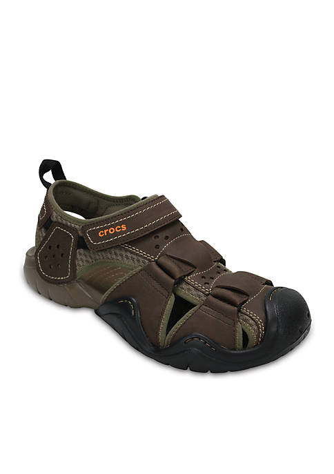 Crocs Swiftwater Leather Fisherman Sandal
