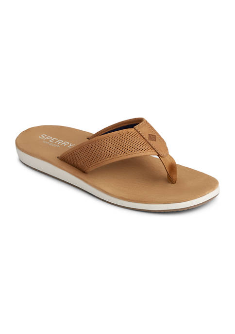 Sperry® Bayside Perforated Thong Sandals